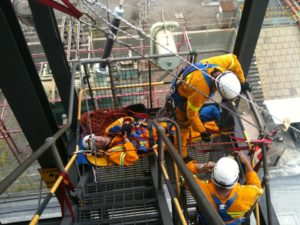 Vertical rescue training situation