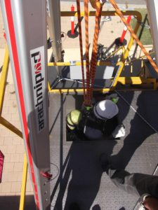 confined space training simulation situation